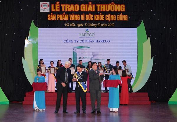 giải thưởng sản phẩm vàng vì sức khỏe cộng đồng hareco