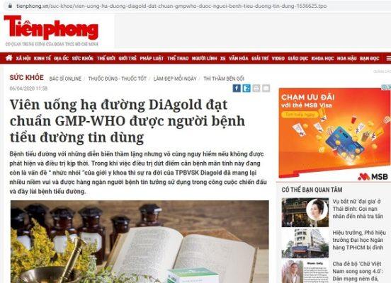 Diagold báo tiền phong