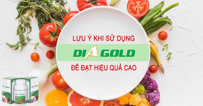 lưu ý khi sử dụng diagold